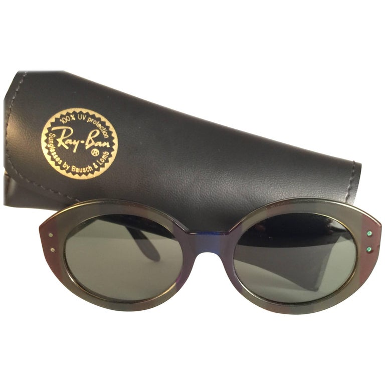 efdb10fe25 Mint Vintage Ray Ban Bewitching Multicolour Oval Grey Lenses Sunglasses For  Sale