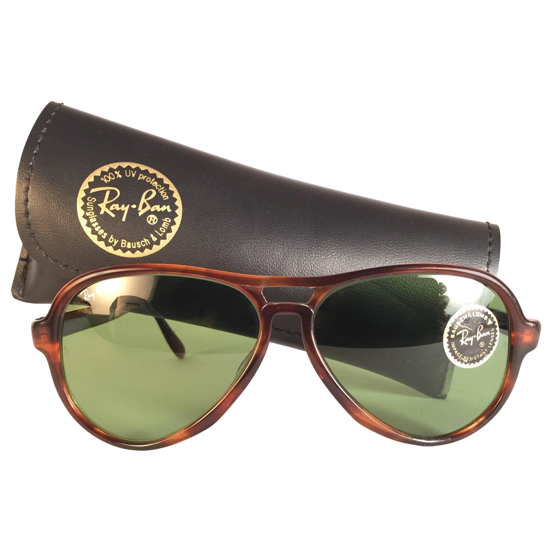 9bb8439e388 ... where to buy new vintage ray ban bl vagabond tortoise g15 grey lenses  sunglasses usa for