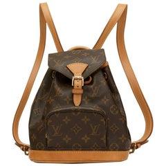 2000 Louis Vuitton Brown Coated Monogram Canvas Mini Montsouris Backpack