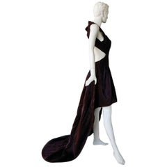 "Yiquing Yin ""Princess of Pleats"" Poiret Designer Hi Low Couture Dress Gown"