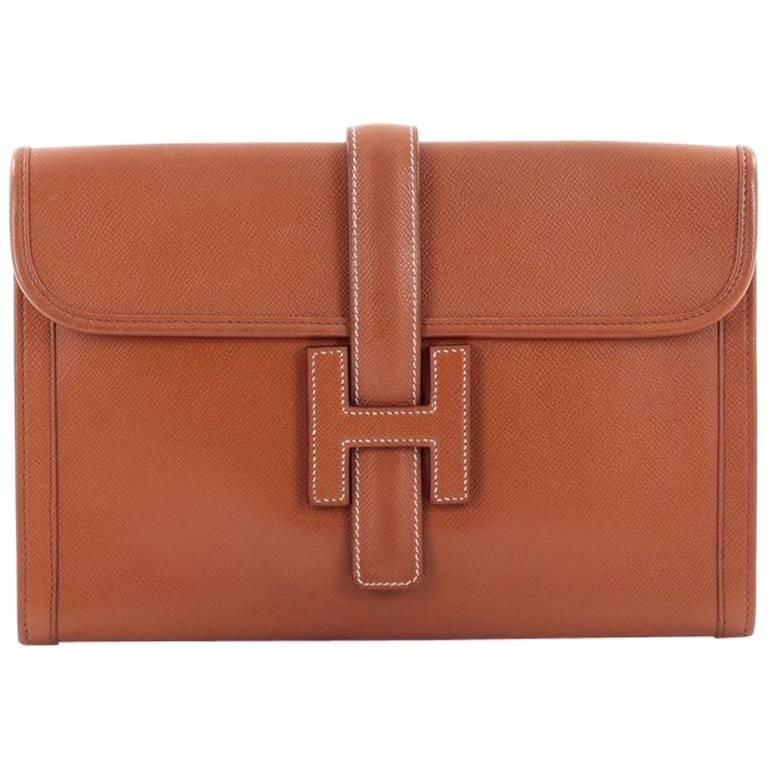Hermes Jige Clutch Courchevel PM For Sale
