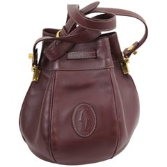 Cartier Vintage Burgundy Bucket Leather Bag