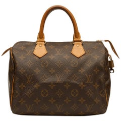 2002 Louis Vuitton Brown Coated Monogram Canvas Speedy 25