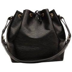1995 Louis Vuitton Black Epi Leather Vintage Petit Noe