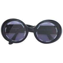 "Chanel Vintage Rare ""CHANEL PARIS"" Sunglasses As Seen On Rihana MINT"