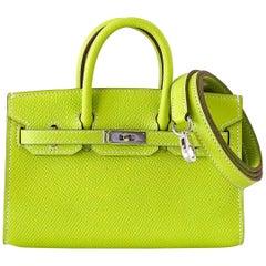 Hermes Birkin Bag Tiny Miniature Micro Kiwi Epsom Limited Edition