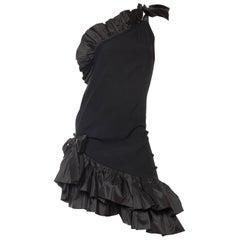 Saint Laurent Taffeta & Crepe Dress