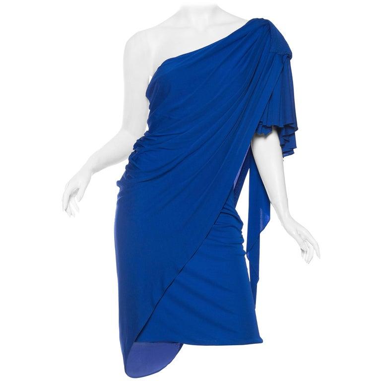 1970s Claude Petin Silk Jersey Dress