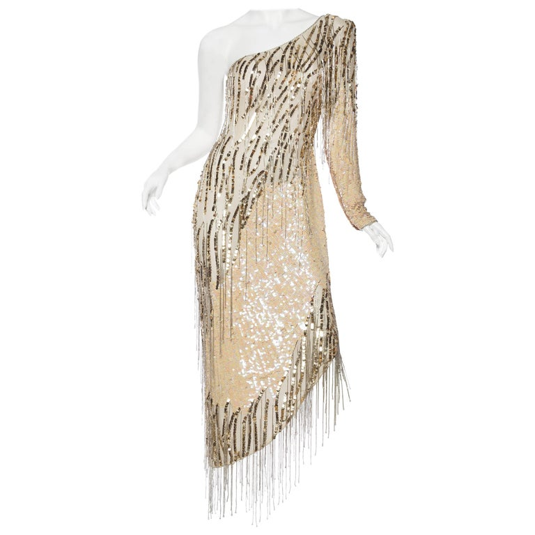 Bob Mackie Beaded Fringe Dress For Sale