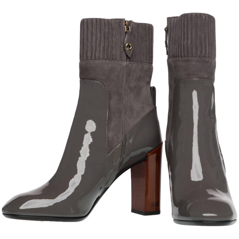 For the last 160 years Louis Vuitton Malletier has been honing its skills in fine leather goods. Originally focused on beautifully articulated travel trunks, this French fashion brand epitomizes luxury. These sleek boots are designed with full