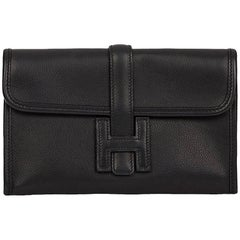 2006 Hermes Black Evergrain Leather Mini Jige