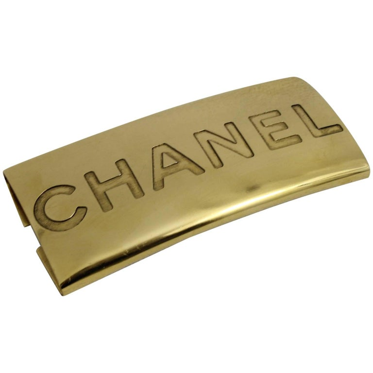 chanel vintage 90 u0026 39 s logo plaque  insert at 1stdibs