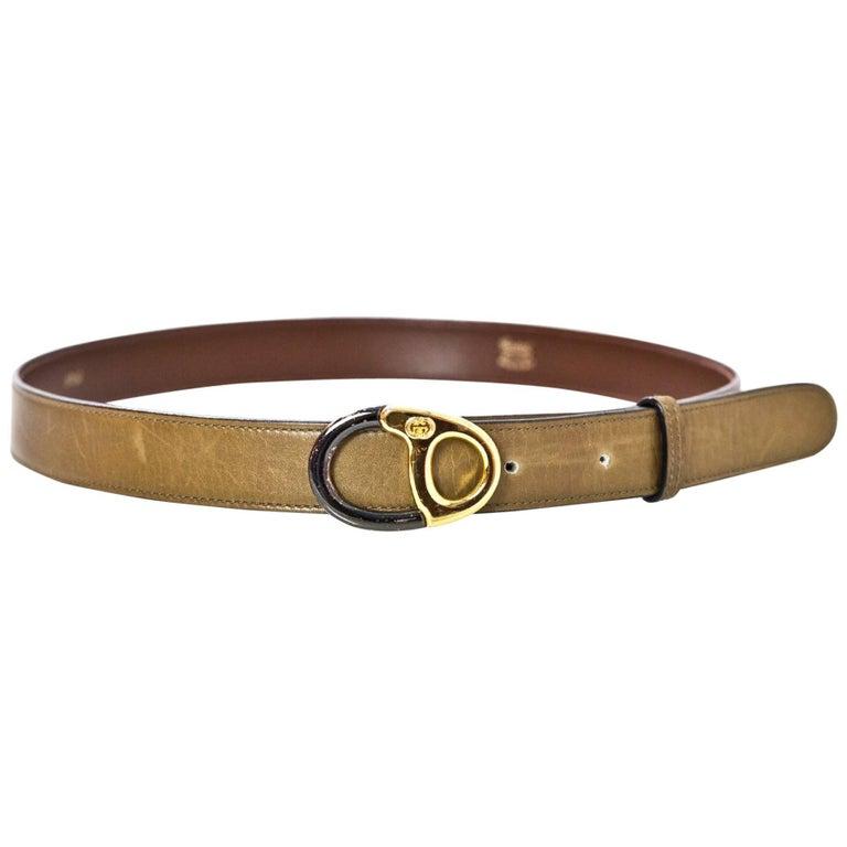 Gucci Brown Leather Belt Sz 75