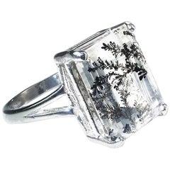 Brazilian Dendrite in Sterling Silver Ring