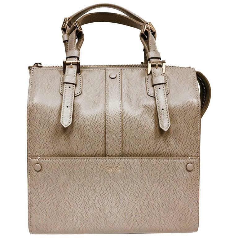 8e8d397327c3 Giorgio Armani Bauletto Piccolo Vitello Stamp Bourgonuovo Small Tote Bag  For Sale. Light grayish brown printed leather ...