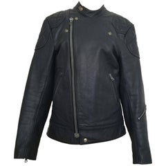 Lewis Leathers Vintage Blue Leather Super Monza Jacket Biker 38