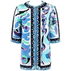 "EMILIO PUCCI c.1967 ""Bangkok"" Multicolor Terrycloth Beach Cover Swim Jacket"