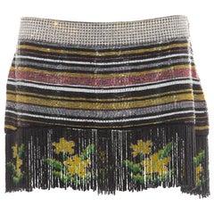 Dolce & Gabbana Silk Beaded Crystal Mini Skirt,  Spring 2000