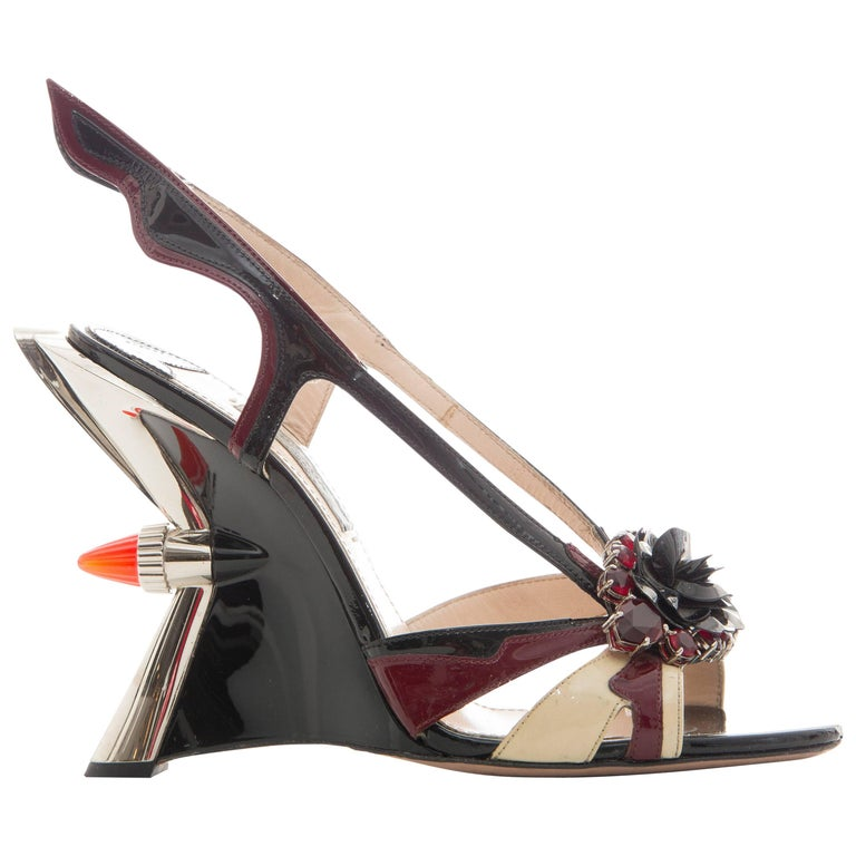Prada Jewel Taillight Wedge Sandal, Spring 2012
