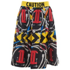Jeremy Scott For Moschino Couture Runway Silk Print Skirt, Spring 2016