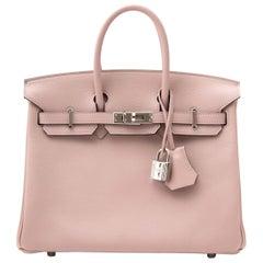 Hard To find Hermès Birkin 25 Evercolor Glycine PHW