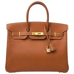 Hermès Birkin 35 Epsom Gold GHW