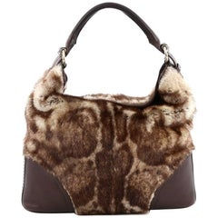 Gucci Signoria Hobo Fur with Leather Large