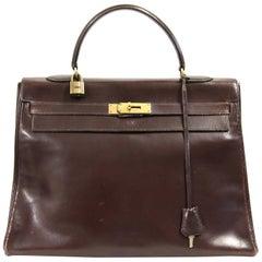 1960s Hermès Brown Leather Kelly Bag