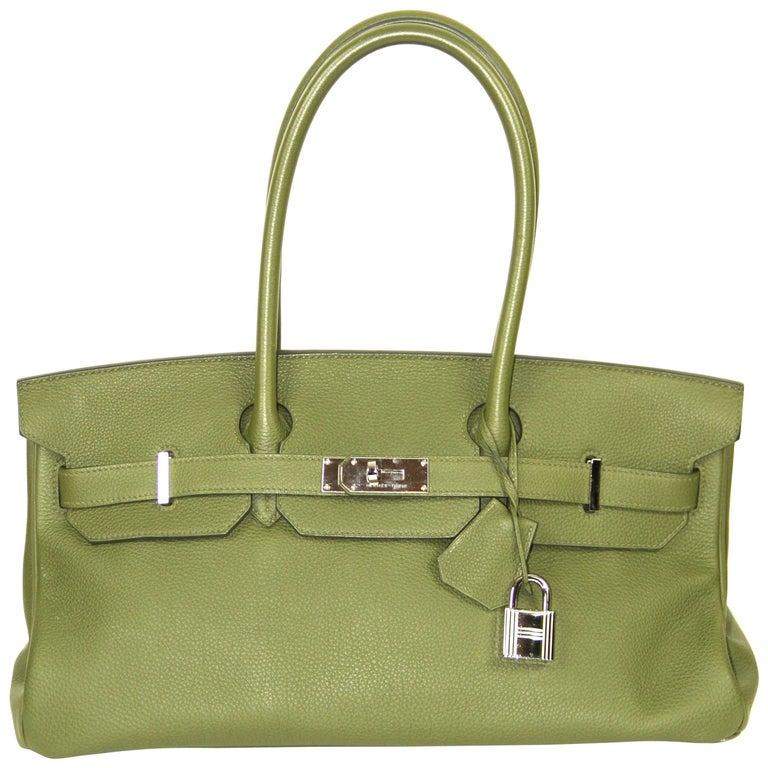 HERMES Birkin Shoulder 40 Military Green Togo Leather at 1stdibs 4e72f44db604d