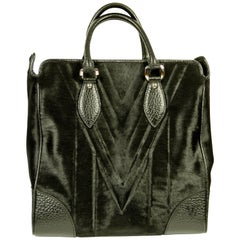 LOUIS VUITTON Whistler Cabas Black Horse Hair Tote Bag Limited Edition