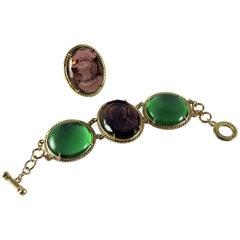 Murano glass bracelet and ring by Patrizia Daliana