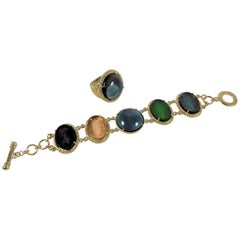 bronze and murano glass ring and bracelet by Patrizia Daliana