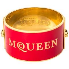 Alexander McQueen Red Enamel Cuff / Bracelet