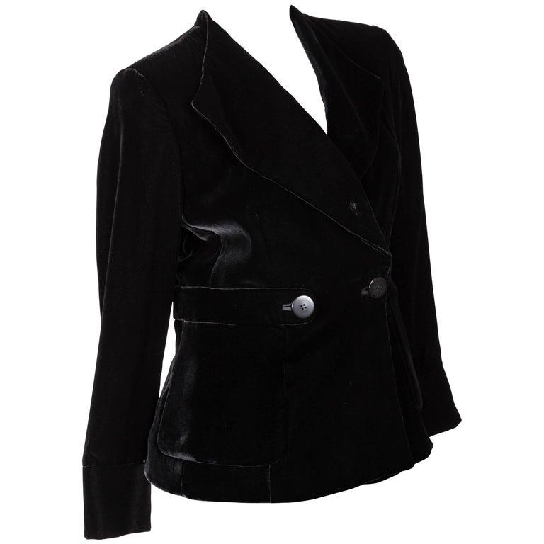 Giorgio Armani Black Velvet Jacket - 44