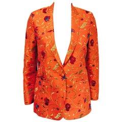 Xi Ling Shi Silk Shantung Mandarin Embroidered Jacket