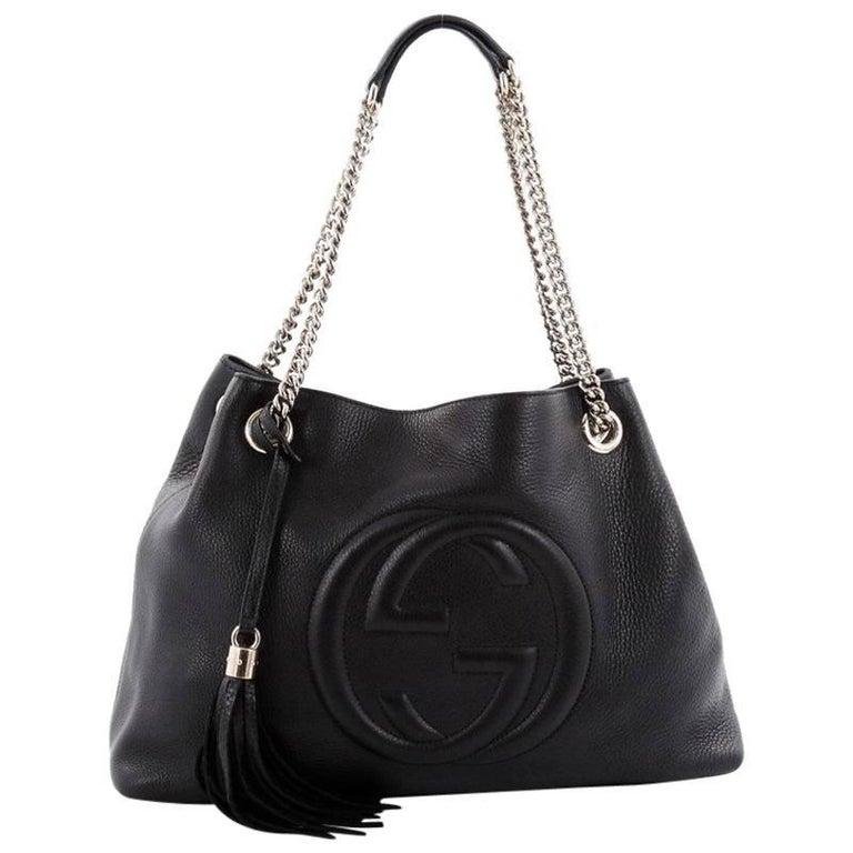 65b1ea48fae5c0 Gucci Soho Shoulder Bag Chain Strap Leather Medium at 1stdibs