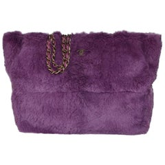 Chanel Lapin Fur Purple Tote