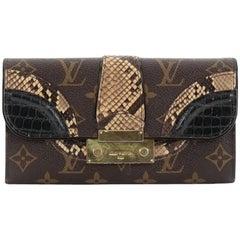 Louis Vuitton Monogramissime Wallet Monogram Canvas and Exotics
