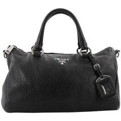 Prada Convertible Boston Bag Vitello Daino Small