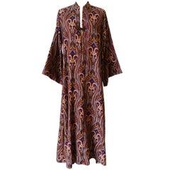 1970s Tapestry Bell Sleeve Kaftan