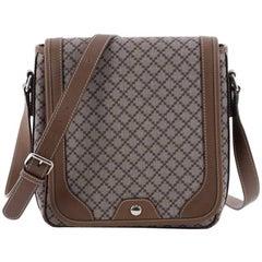 Gucci Snap Flap Messenger Bag Diamante Coated Canvas Medium