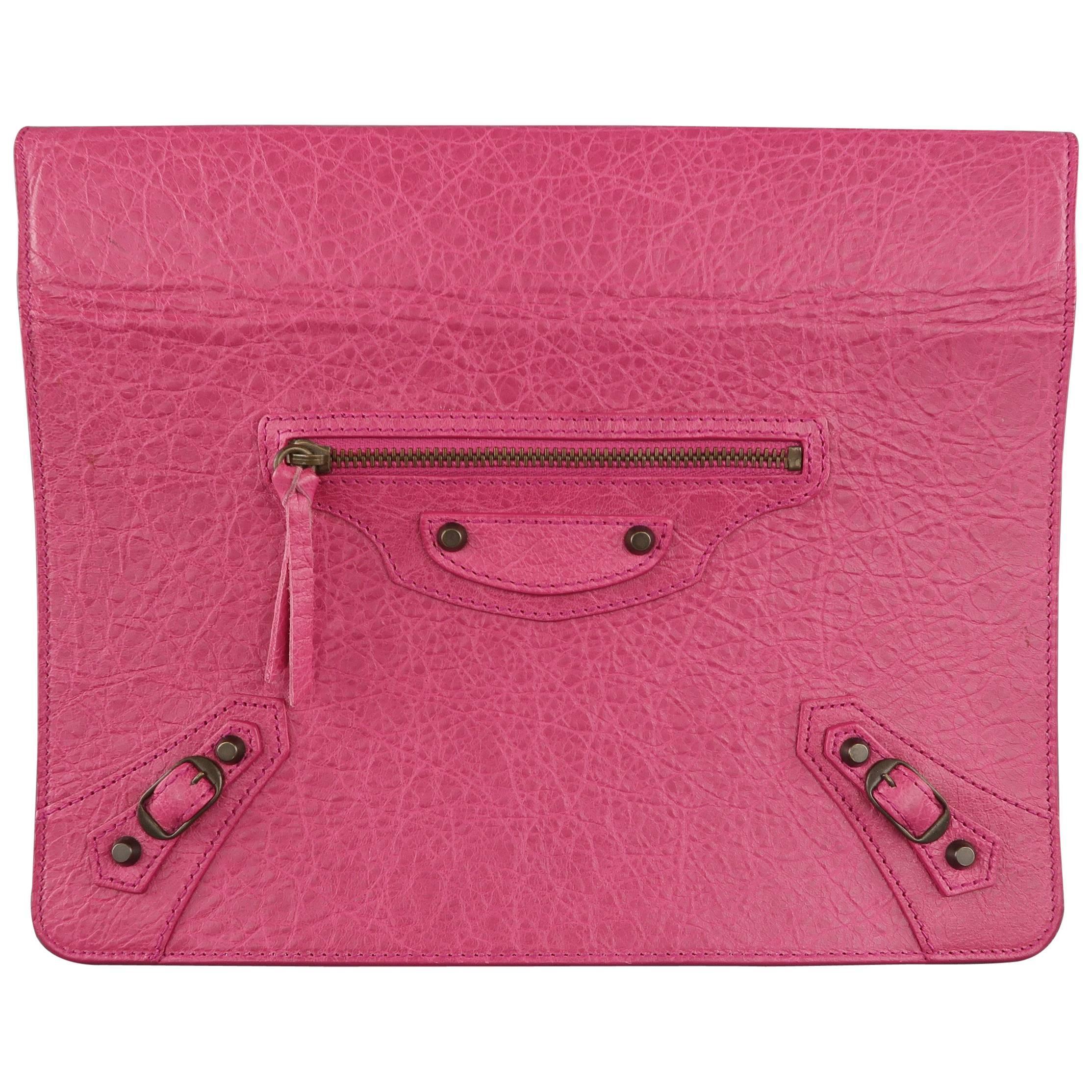 2 Leather Ipad Case Venta Dark Stand Moto Fuchsia En Pink Textured Balenciaga q4Zw0fp6