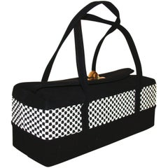 Black and White Rectangular Box Purse