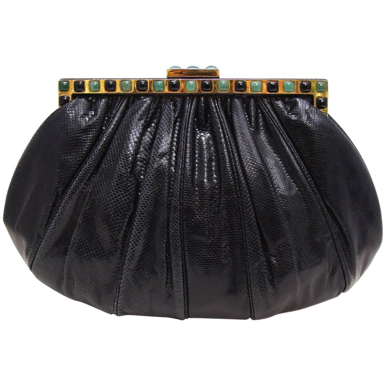 Black Karung Evening Bag by Judith Leiber HOLIDAY
