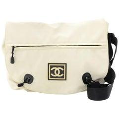 Chanel Sports Line White Nylon Messenger Bag