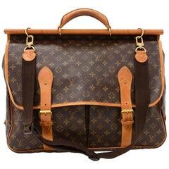 Louis Vuitton Sac Chasse Monogram Canvas Travel Bag + Strap