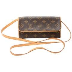 Louis Vuitton Pochette Twin PM Monogram Canvas Shoulder Bag