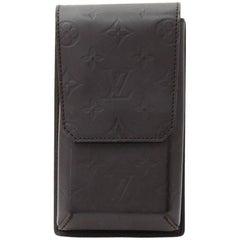 Louis Vuitton Dark Brown Monogram Matt Leather Waist Pouch