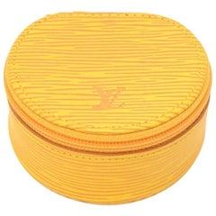 Louis Vuitton Ecrin Bijoux Yellow Epi Leather Mini Jewelry Case