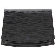 Vintage Louis Vuitton Ceinture Tilsitt Black Epi Leather Clutch Pochette